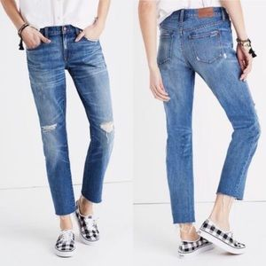 Madewell Low Rise Slim Boy Jean